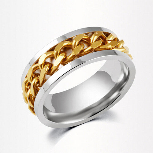 golden chain style ring