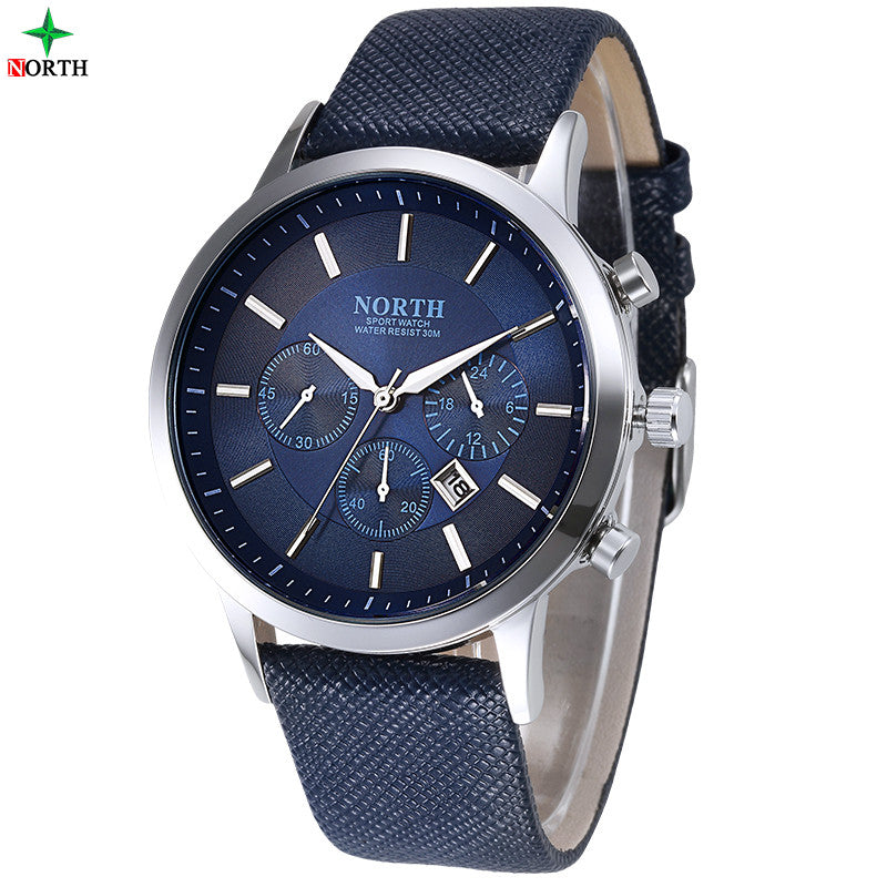 Premium Business Watch With Leather Strap (available in more colors)