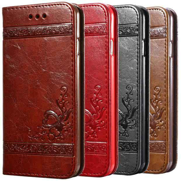 iPhone Luxury Flip Leather Case