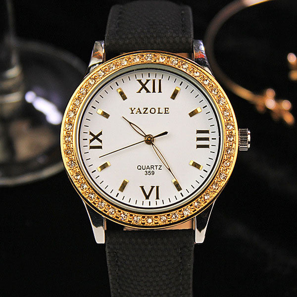 Luxury Golden & Black Watch (available in more colors)