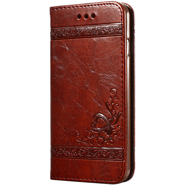 Luxury Flip Leather Case For iPhones - 3D Wallet Coque - Silicone Back Cover