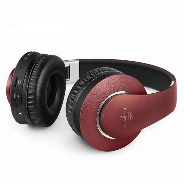 P1  Bluetooth Headphone Version 4.0 - Red