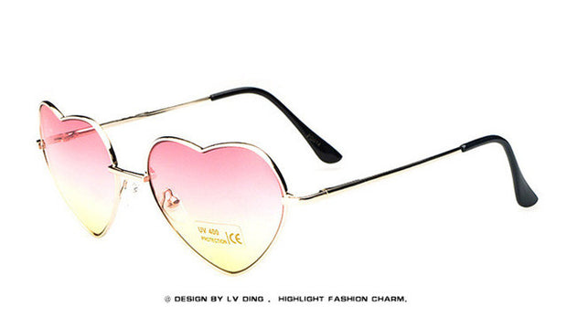 heart shaped sun glasses