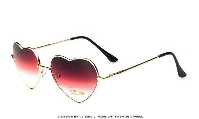sun glasses heart shaped