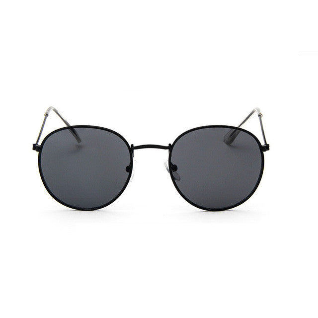 black and black sunglasses for women round