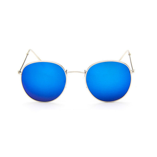 blue Sun Glasses for Women Round