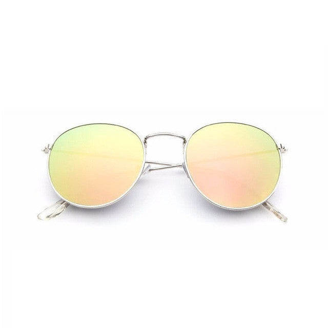 golden Sun Glasses for Women Round