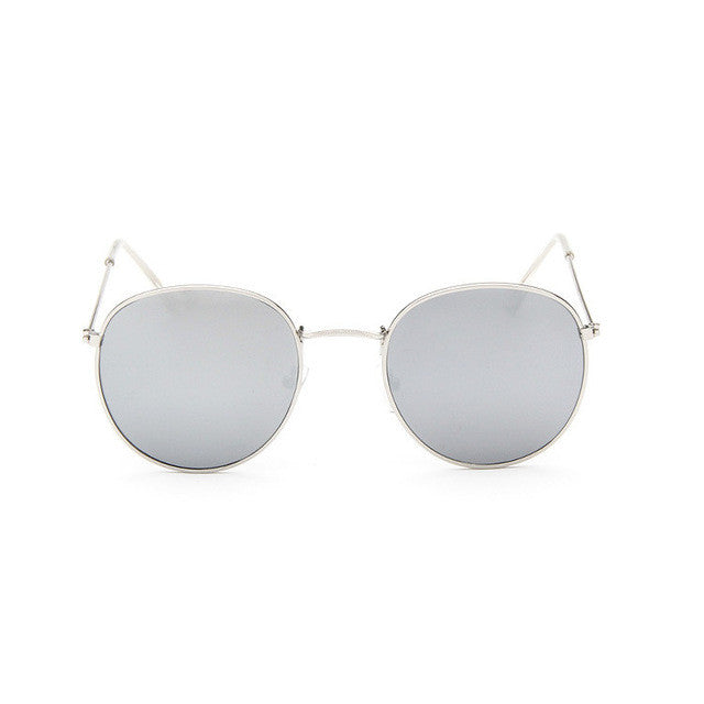silver Sun Glasses for Women Round