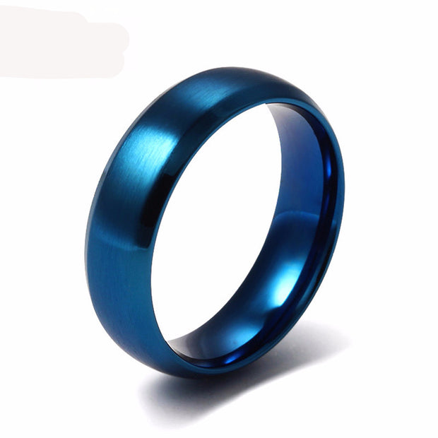 blue ring stainless steel with matte finish
