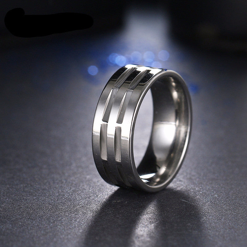 silver stainless ring