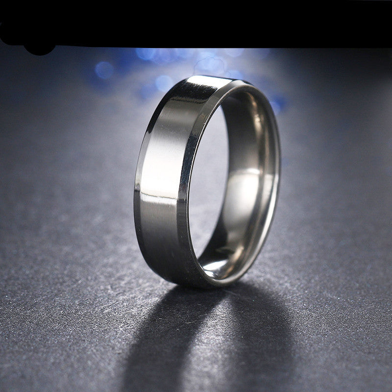 stainless steel silver polished ring