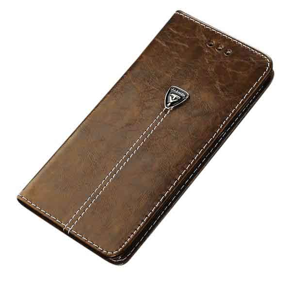 USLION Luxury Flip Leather iPhone Case