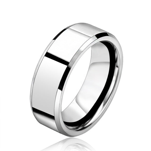 stainless steel men's cool silver ring