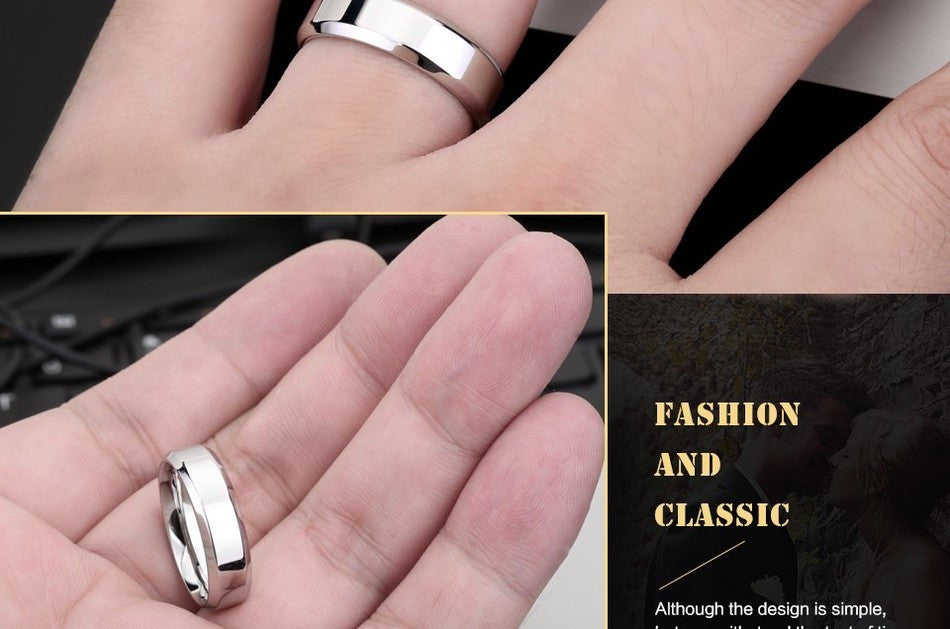 stainless steel silver ring men