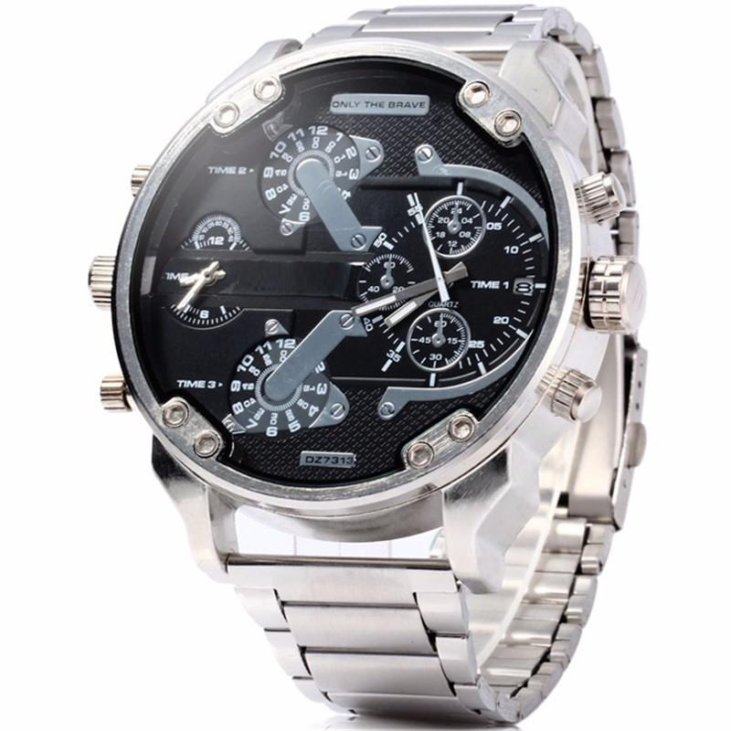 Big Silver Watch For Men