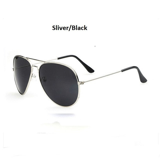 silver and black men's sunglasses