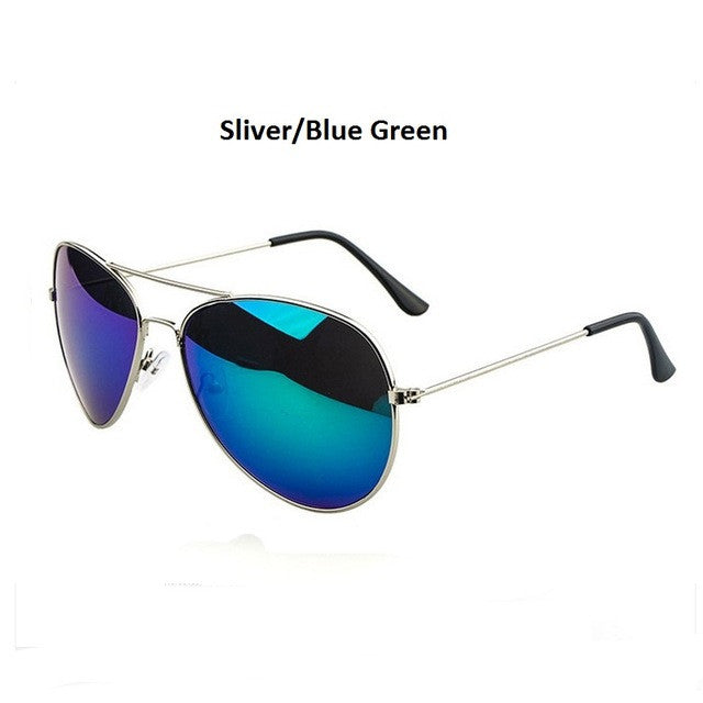 silver blue men's aviator sunglasses