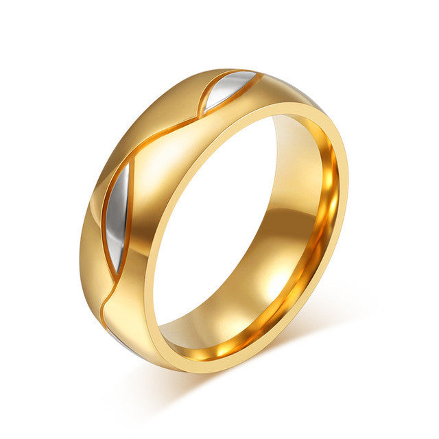Cubic Zirconia Wedding Ring Gold