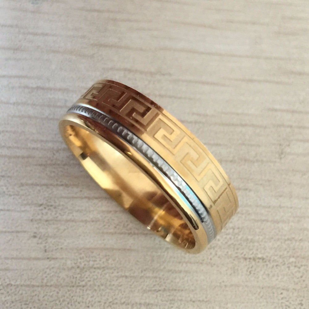 two colors golden and silver ring