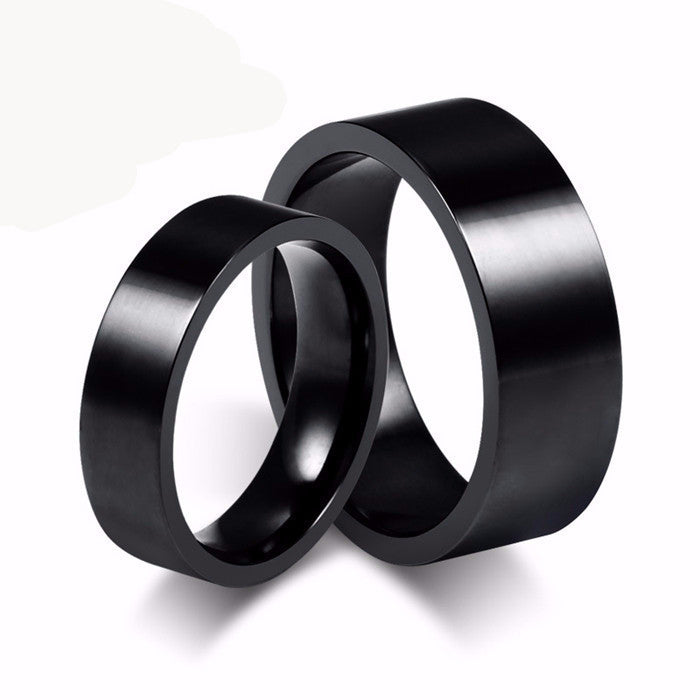 Black Stainless Steel Ring