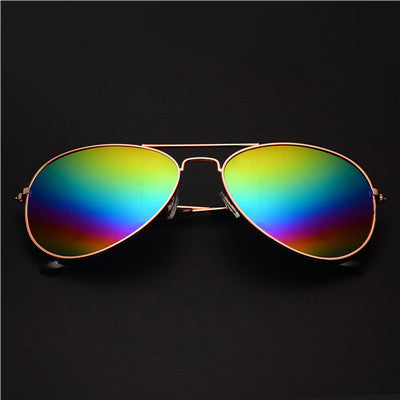 New Women Aviator Sunglasses Gold frame Glasses