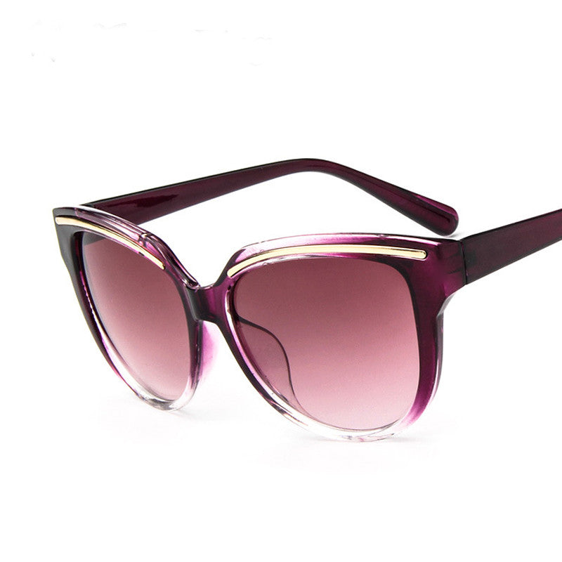 purple cat eye mirrored sunglasses