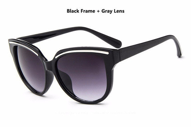 Sunglasses Women Fashion Cat Eye Frame Mirror Sun Glasses