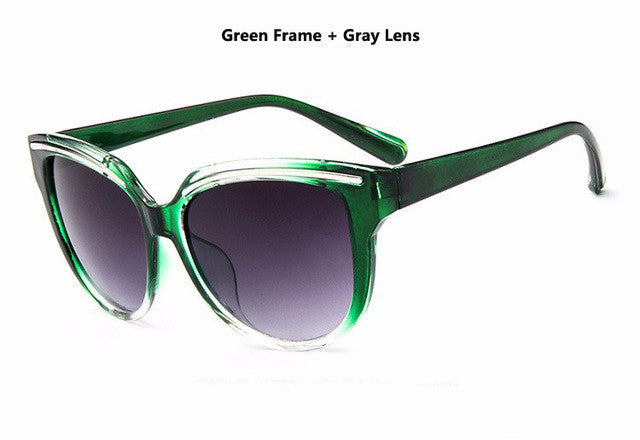 women cat eye frame sunglasses