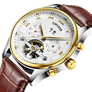 Gold With Brown Leather Classic Watch