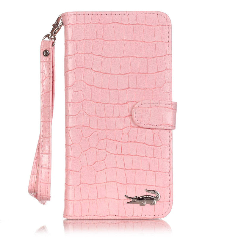 Luxury Crocodile Style Flip Leather iPhone Case