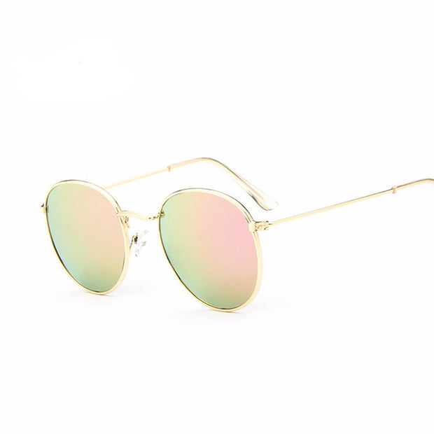 Retro Round Sunglasses gold frame