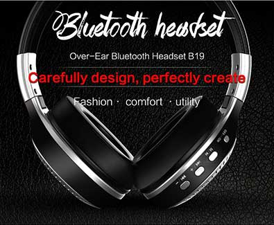 B19 Bluetooth Wireless Stereo Headphone w/ Mic