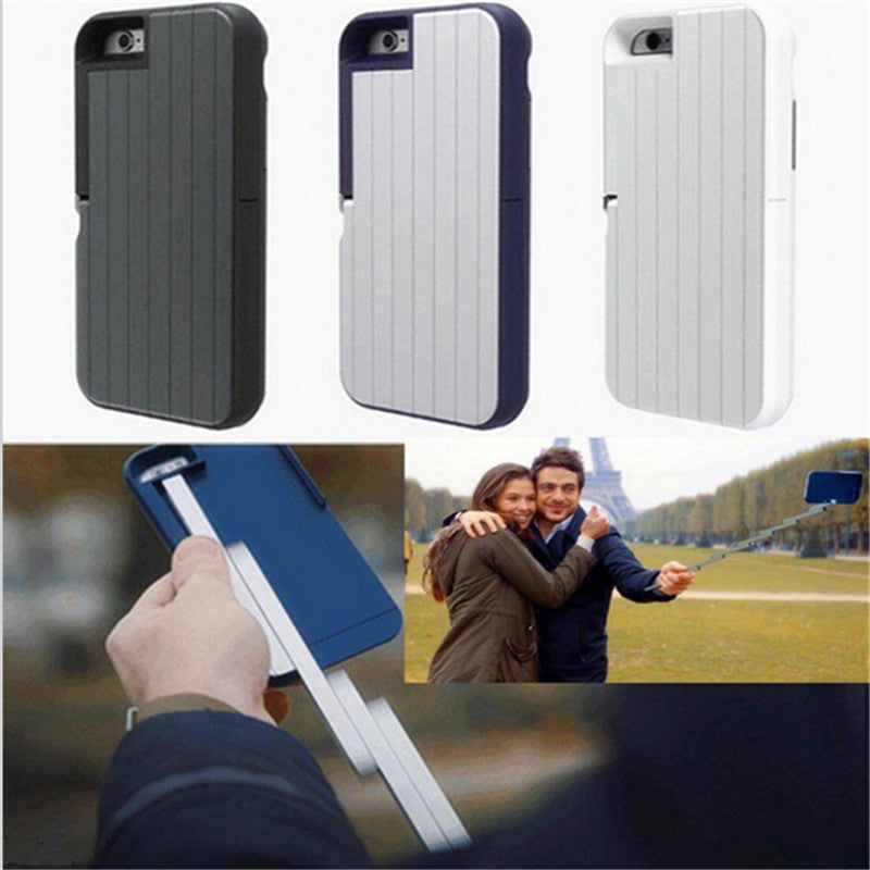 Luxury Selfie Stick phone case For iPhone 6 & 6S