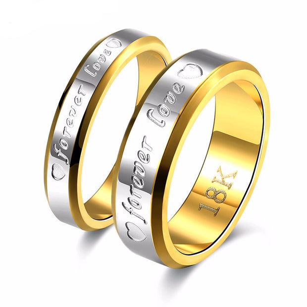 Wedding Couple Ring Stainless Steel Gold  Apps   Save