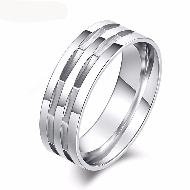stainless steel silver ring