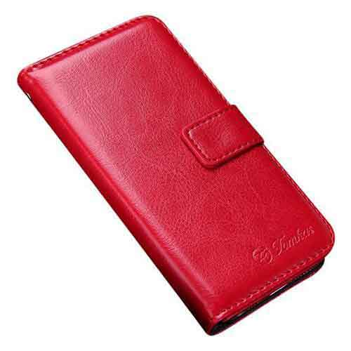 Stylish Red Wallet Leather iPhone Case