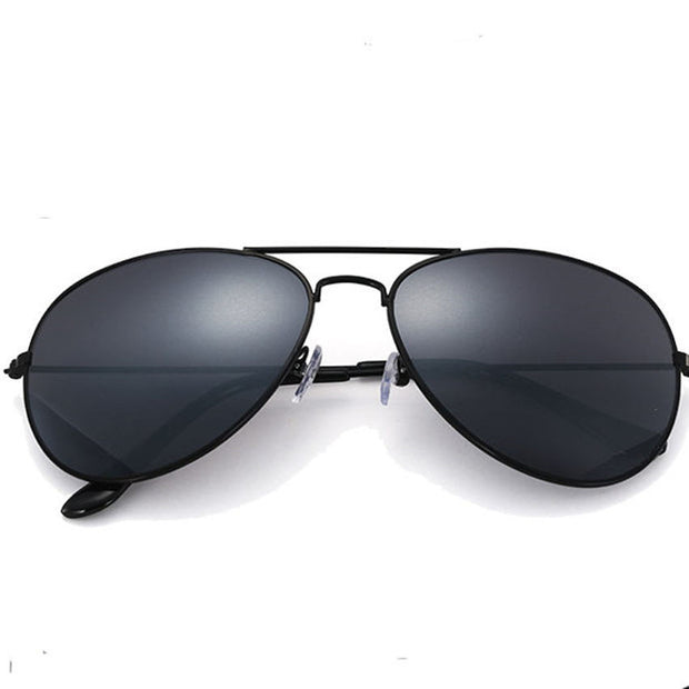 black vintage male aviator sunglasses