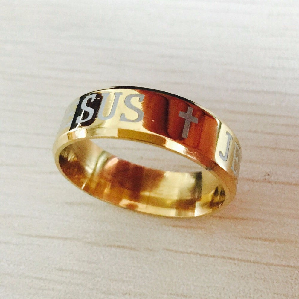 golden jesus ring