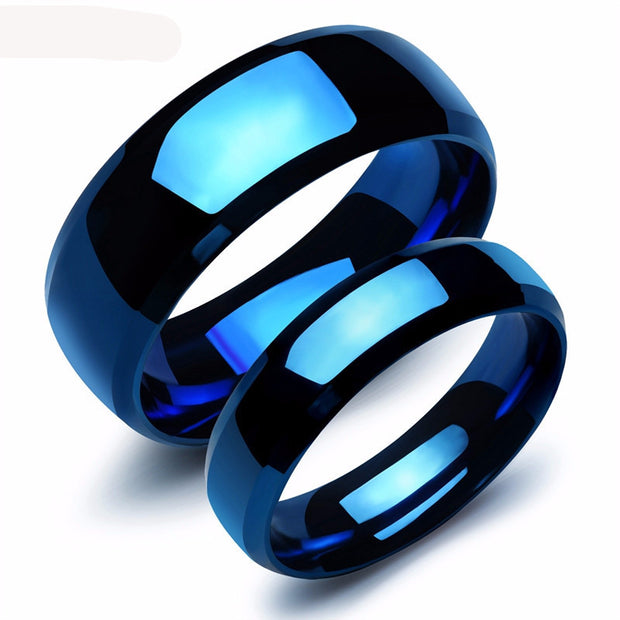 lovers rings carved blue
