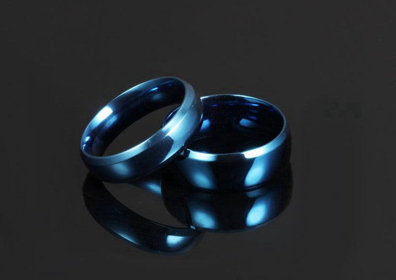 lovers ring carved blue