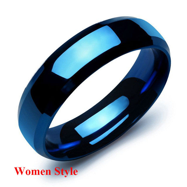 blue carved lovers ring