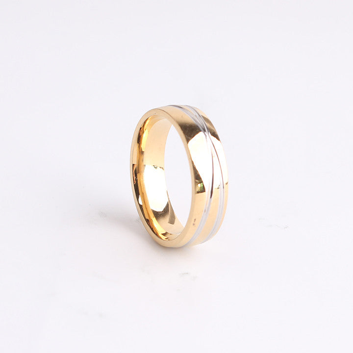 stripe cross golden ring