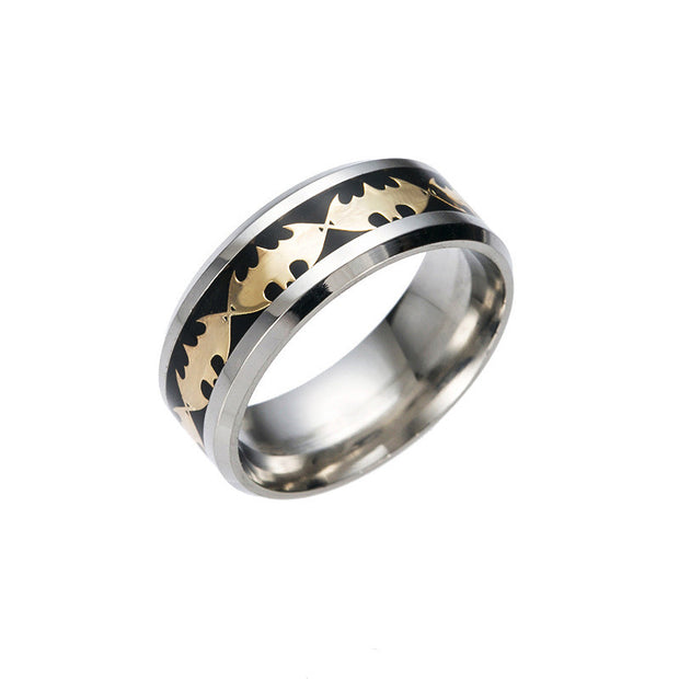 retro style batman ring black and gold