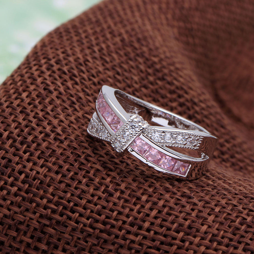 cross pink ring