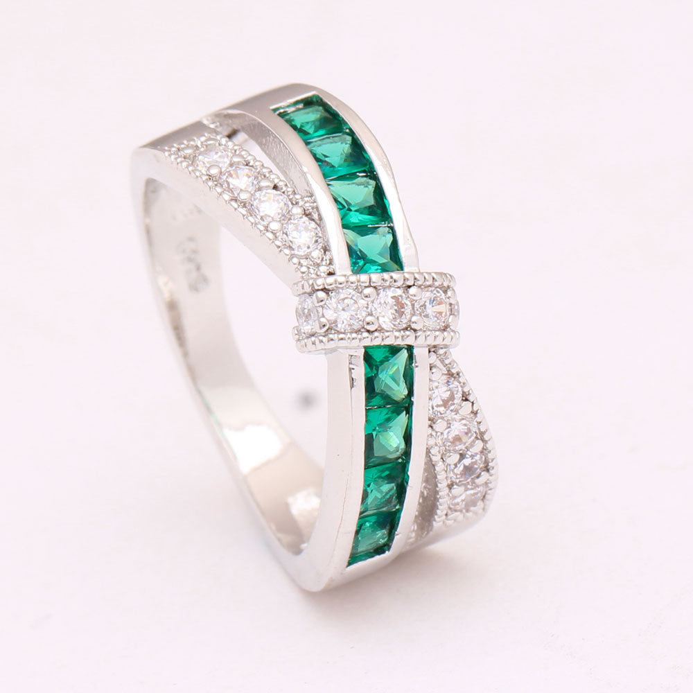 green cross finger ring