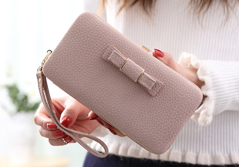 Luxury Wallet Phone Bag Leather Case For iPhone & Samsung