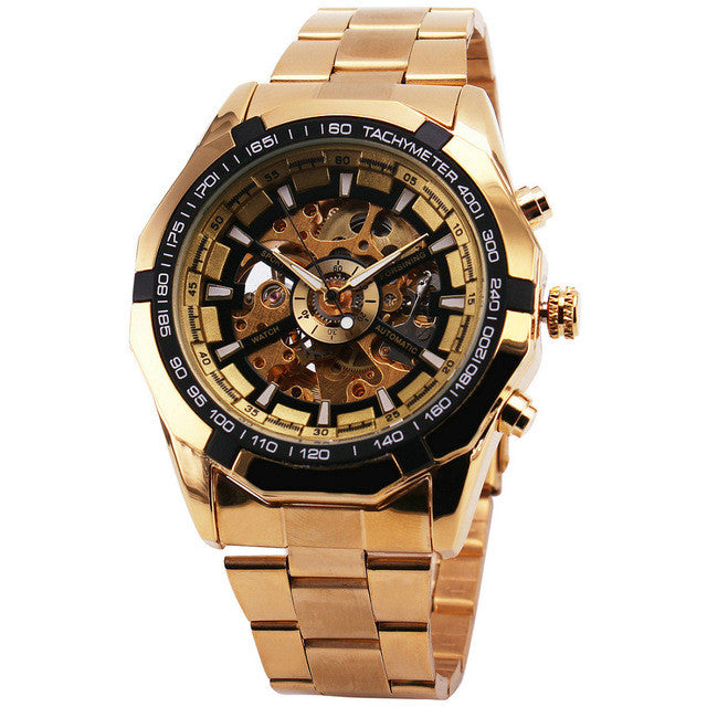 Skeleton Automatic Gold Mechanical Watch (available in more colors)