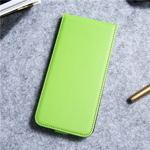 Green Vintage Flip Leather Case For iPhone