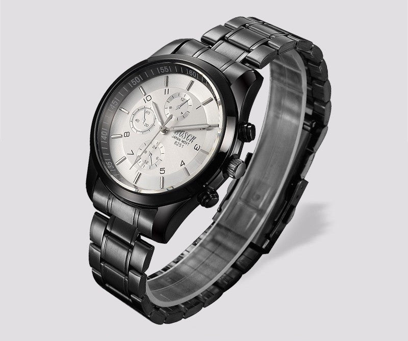 Top Luxury Black Stainless Steel Watch (available in more colors)