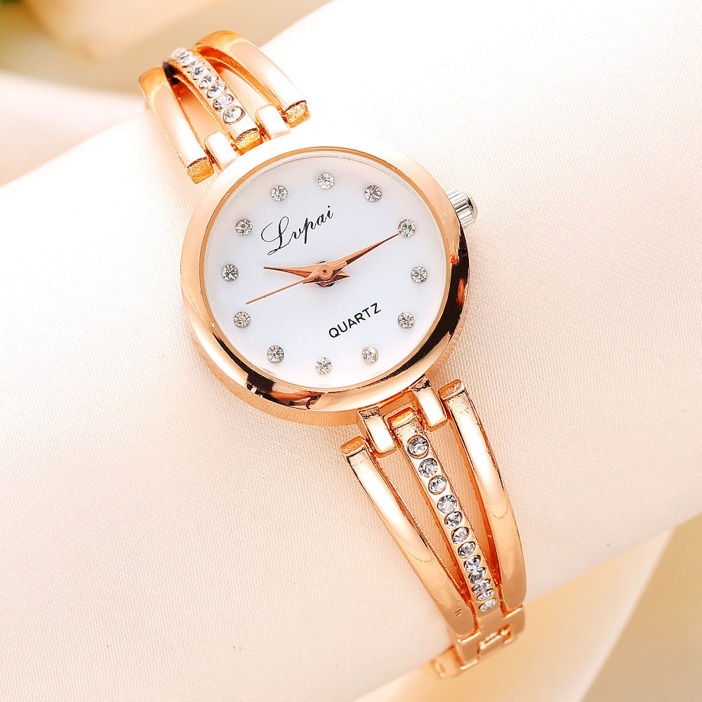 Lvpai Luxury Rhinestone Golden Watches for Women